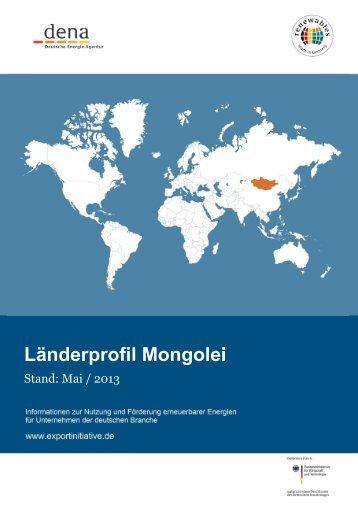 Länderprofil Mongolei - Exportinitiative Erneuerbare Energien