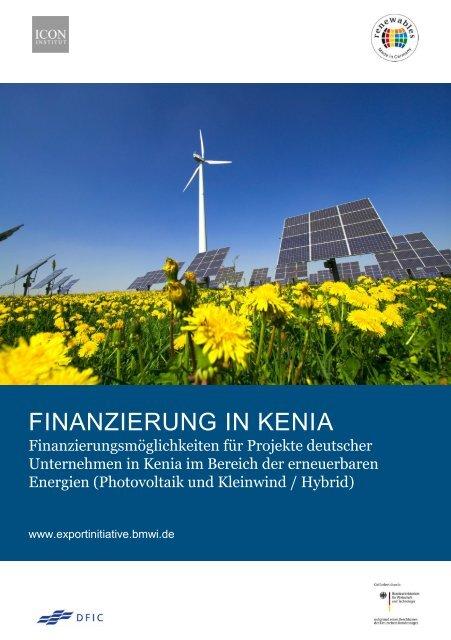 Finanzierungsstudie Kenia - Exportinitiative Erneuerbare Energien