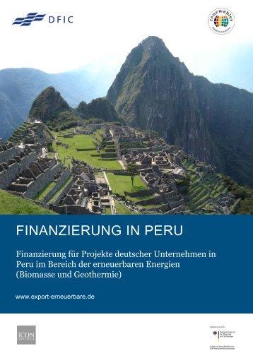 Finanzierungsstudie Peru - Exportinitiative Erneuerbare Energien