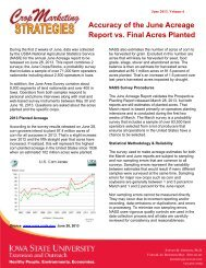 Accuracy of the June Acreage Report vs. Final Acres Planted