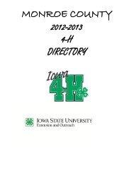 monroe county 2012-2013 4-h directory - Iowa State University ...