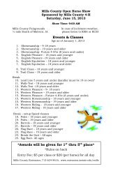 Mills County 4-H & Open Horse Show - Iowa State University ...