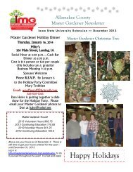 December 2013 - Iowa State University Extension and Outreach