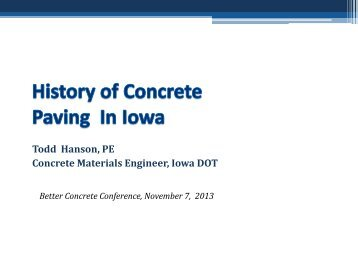 History of Concrete Paving In Iowa - Iowa State University Extension ...