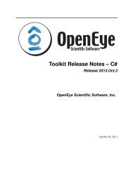 Toolkit Release Notes -- C# - OpenEye Scientific Software