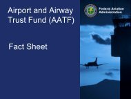 Airport and Airway Trust Fund Fact Sheet - June 2013 - FAA