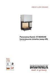 Panorama-Kamin 57/40/85/40 horevýsuvné dvierka (easy ... - Brunner
