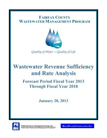 Wastewater Revenue Sufficiency and Rate Analysis report