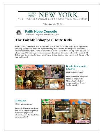 Faith Hope Consolo The Faithful Shopper: Kute Kids
