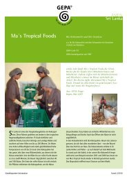 Ma´s Tropical Foods - Gepa