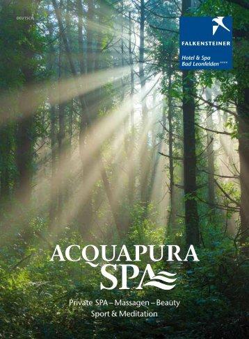 Private sPA – Massagen – Beauty sport & Meditation - Falkensteiner