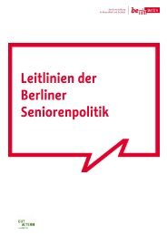 Leitlinien der Berliner Seniorenpolitik - Berliner Beirat für ...