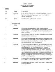 Final Agenda and Board Package - Fairfax County Government