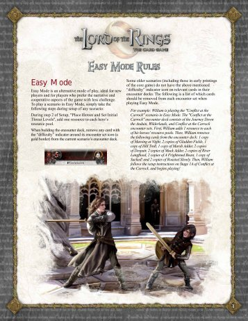 complete rules for Easy Mode - Fantasy Flight Games