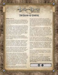 The Blood of Gondor rulesheet - Fantasy Flight Games