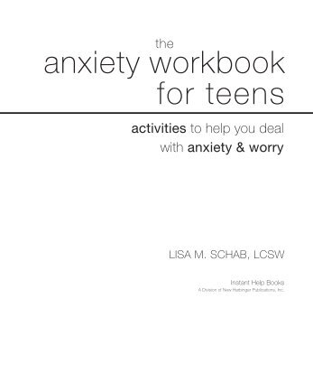 Anxiety Anxiety Workbook For Teens