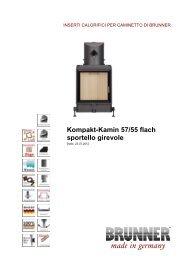 Kompakt-Kamin 57/55 flach sportello girevole made in ... - Brunner
