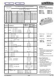 SEMIPACK® 1 Thyristor / Diode Modules SKKT 41 SKKH ... - Farnell