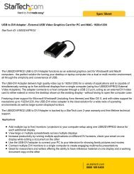 USB to DVI Adapter - External USB Video Graphics Card ... - Farnell
