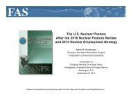 The US Nuclear Posture After the 2010 Nuclear Posture Review and ...