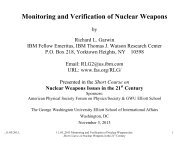 Monitoring and Verification of Nuclear Weapons - Federation of ...
