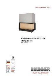 Architektur-Eck 53/121/50 lifting doors made in germany - Brunner