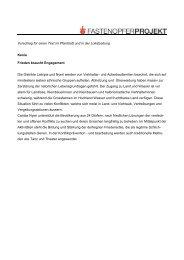 Vorschlag für einen Text im Pfarrblatt und in der ... - Fastenopfer