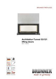 Architektur-Tunnel 53/121 lifting doors made in germany - Brunner