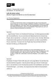 Leih dir einen Lehrer Bremer Projekt holt Männer ... - Fachbereich 12