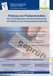 Prüfung von Problemkrediten - Finanz Colloquium Heidelberg