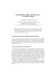 Time Dimension, Objects, and Life Tracks - A Conceptual Analysis