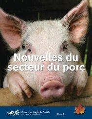 Nouvelles du secteur du porc