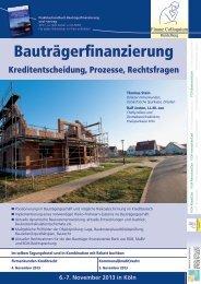 Bauträgerfinanzierung - Finanz Colloquium Heidelberg