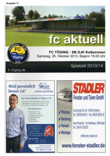 Heft 11 herunterladen - FC Töging