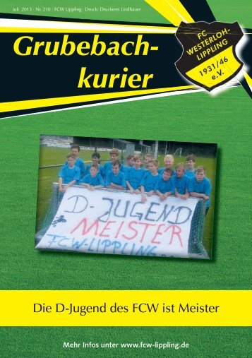 Grubebachkurier Nr. 210 - FC Westerloh-Lippling