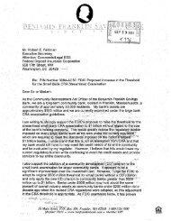 Public Comment CRA2 AC50, Ben Franklin Savings Bank ... - FDIC