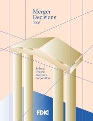 Merger Decisions - FDIC