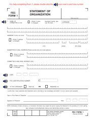 Form 1 - Federal Election Commission
