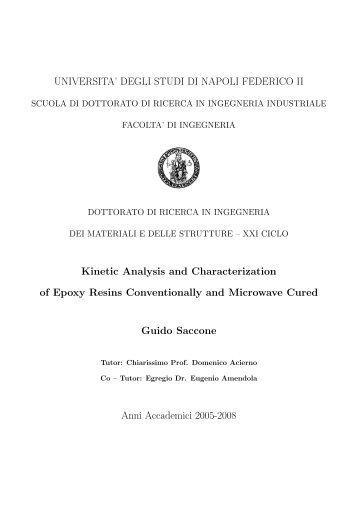 Kinetic Analysis and Characterization of Epoxy Resins ... - FedOA