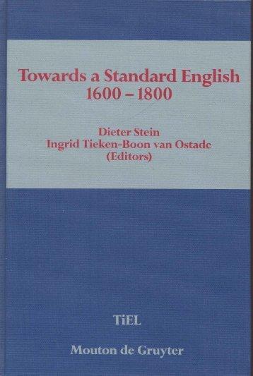 Language standardization in eighteenth-century Scotland - FedOA