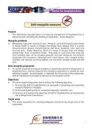 Anti-mosquito Measures - Advice for Hospitals / Clinics