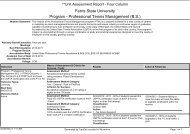 Professional Tennis Management (BS) - Ferris State University
