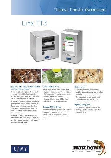 Linx TT3 Datasheet
