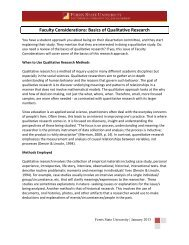 Faculty Considerations: Basics of Qualitative Research - Ferris State ...