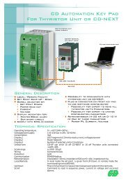CD Automation Key Pad For Thyristor Unit or CD-NEXT - Ferret
