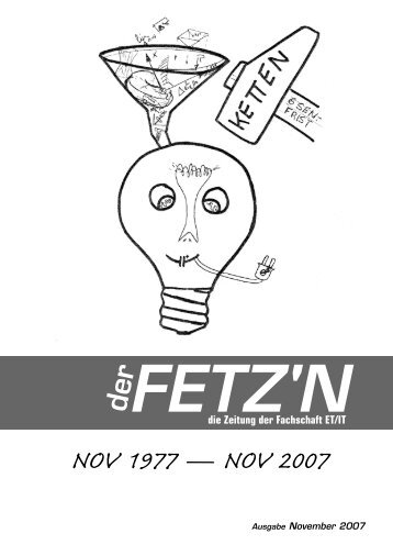 Ausgabe vom November - Fachschaft Elektrotechnik