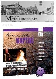 Mitteilungsblatt Nr 23 vom 08.11.2013 - Stadt Feuchtwangen