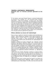 TROPES & INSTANCES ÉNONÇANTES - fflch