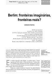 Berlim: fronteiras imaginárias, fronteiras reais? - fflch - USP