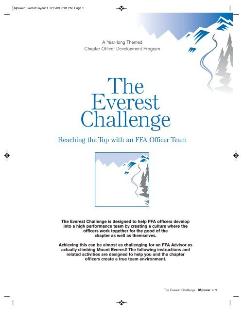 The Everest Challenge - National FFA Organization